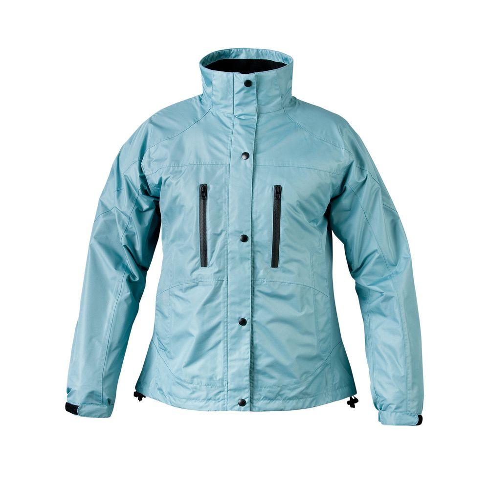 Ladies RX 2X-Large Aqua Blue Rain Jacket, Size: 2XL