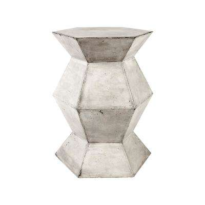 Flanery Polished Concrete Accent Table