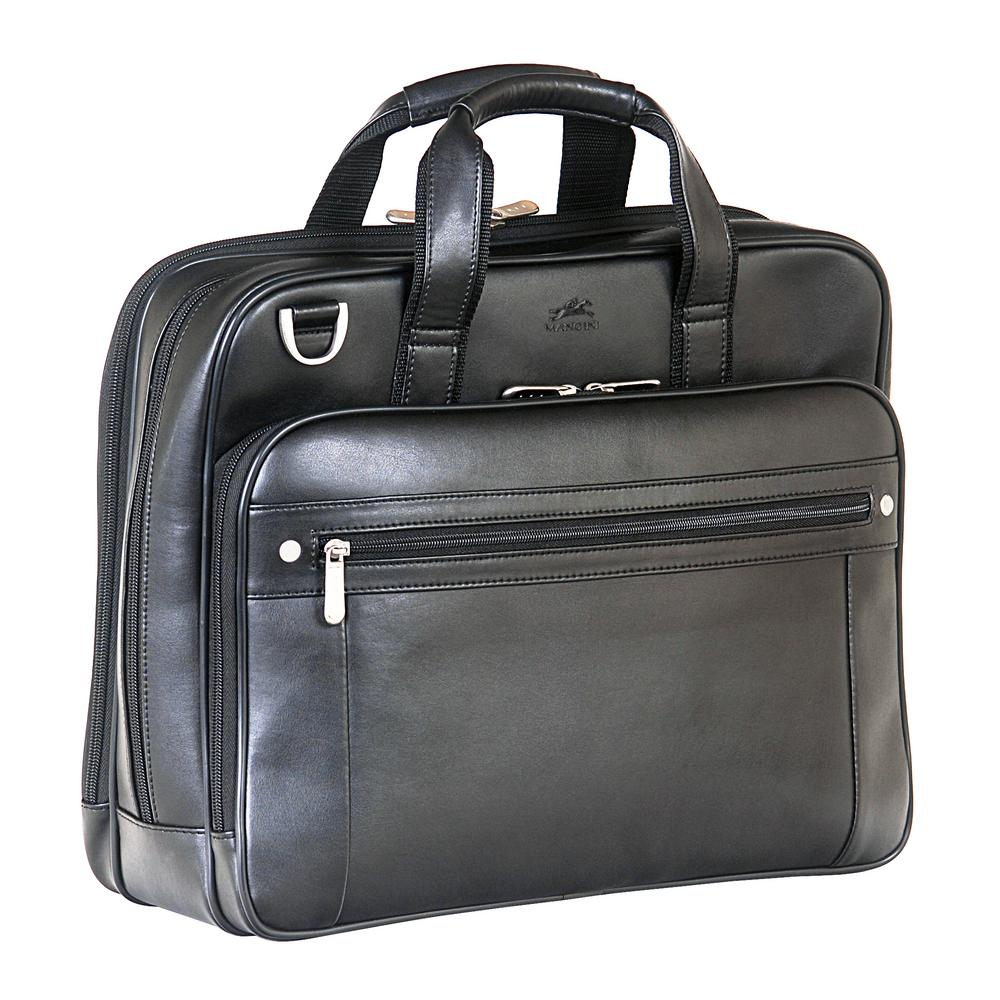 MANCINI Double Compartment Black Business Briefcase for 15 . c04cb384f71cc
