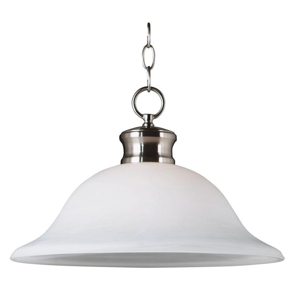Kenroy Home Winterton 1-Light Brushed Steel Downlight Pendant-DISCONTINUED