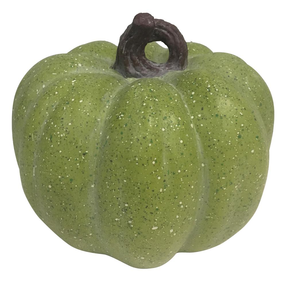 Home Accents Holiday 7.5 in. Harvest Pumpkin in Green