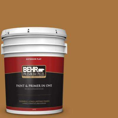 5 gal. #MQ4-6 Invitation Gold Flat Exterior Paint and Primer in One