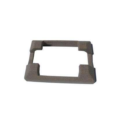 5 in. x 5 in. Brown Composite Fence Line Post Concrete Bracket Skirt