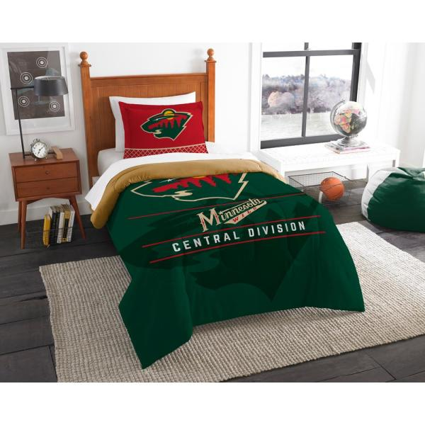 NHL Wild Draft 2-Piece Multi-Color Polyester Twin Comforter Set