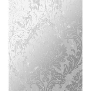 Milan Damask Silver And Grey Removable Wallpaper