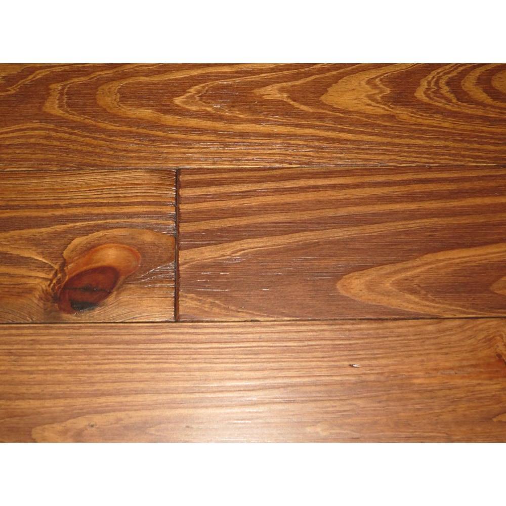 BLC Hardwood Flooring Homestead Wirebrushed Sierra Pine 3/4 in. x 5-1/8 in. Wide x Random Length Solid Hardwood Flooring (23.3 sq. ft. / case)