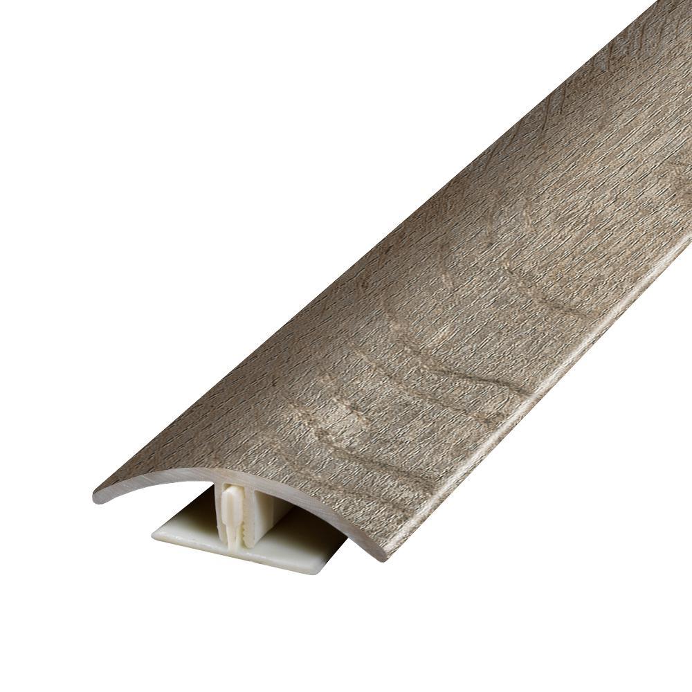 Buckhorn Gray 0.37 in. Thick x 1.75 in. Wide x 78.7 in. Length Vinyl 2-in-1 Molding