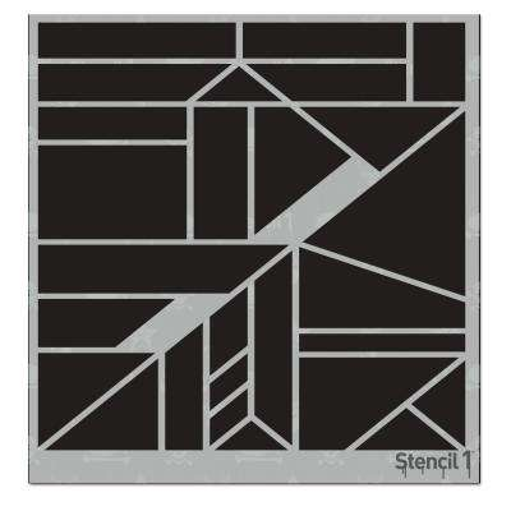 Geometric Small Repeat Pattern Stencil