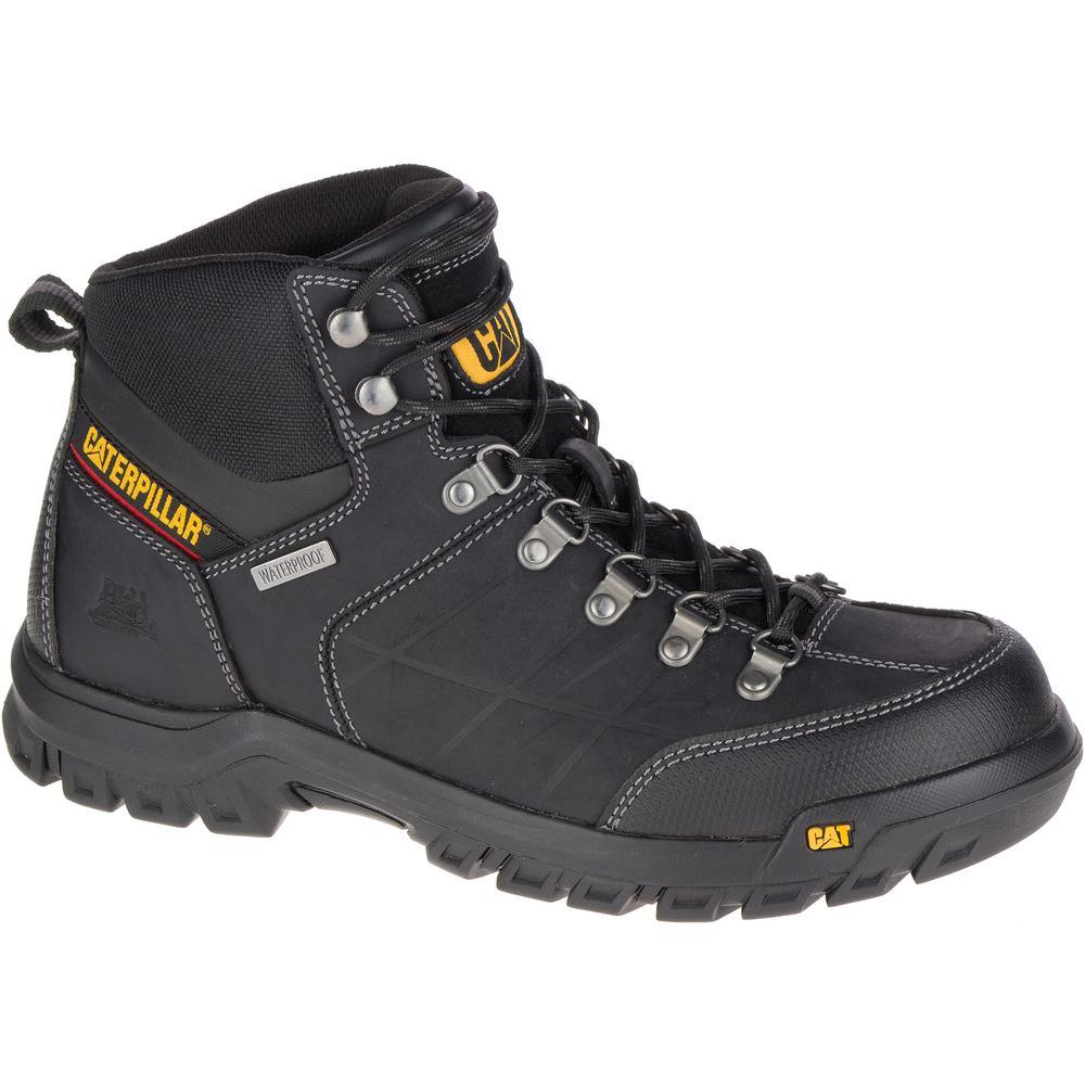 CAT Footwear Threshold Men's Size 8-1/2W Black Waterproof Boots