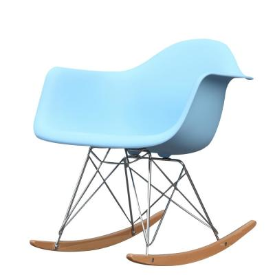 Light Blue Rocker Arm Chair