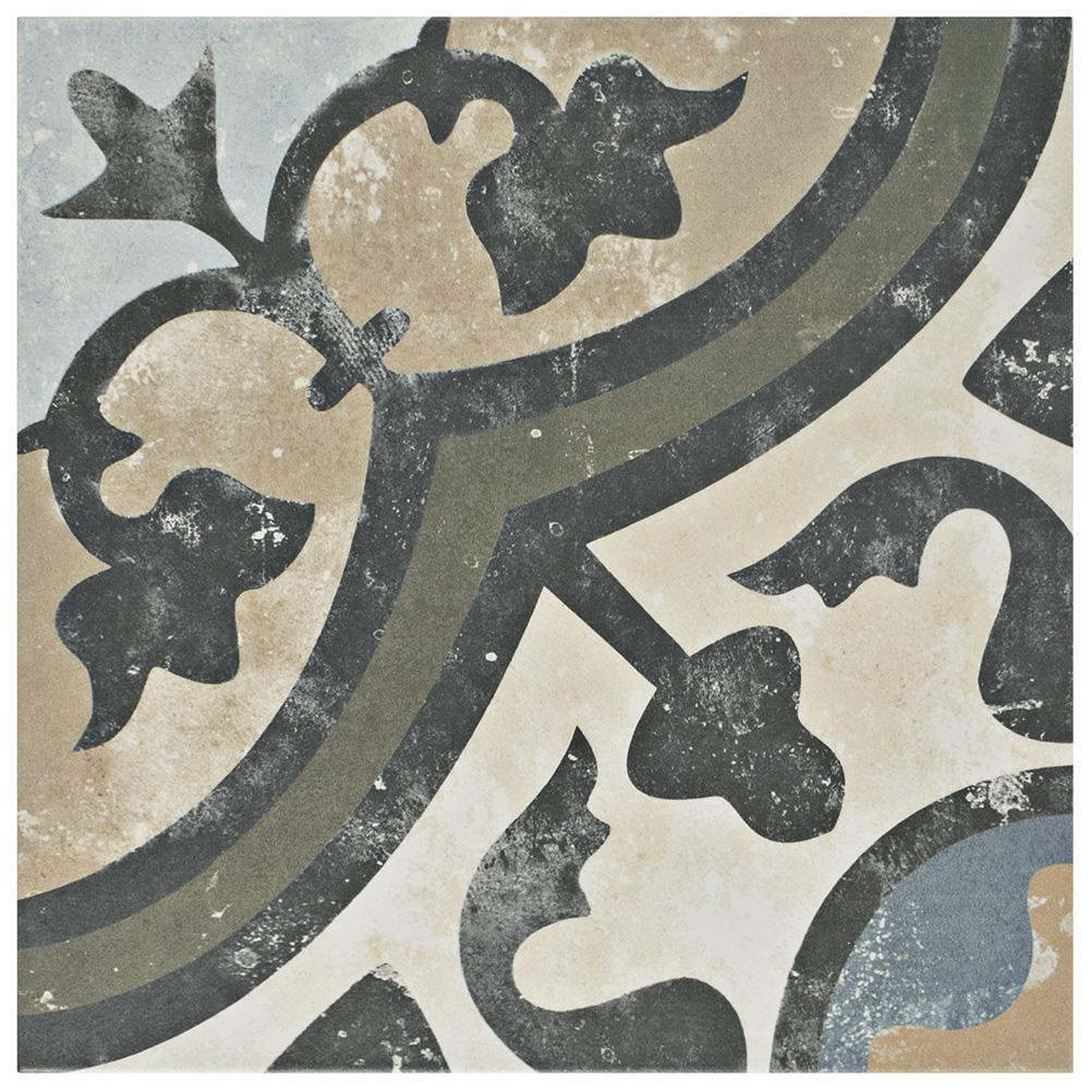 Merola Tile Evoque Carthusian Encaustic 9-3/4 in. x 9-3/4 in. Porcelain Floor and Wall Tile (11.11 sq. ft. / case)