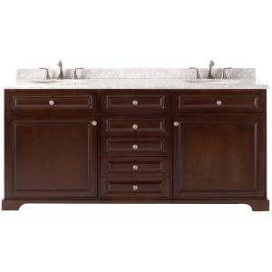 D Double Bath Vanity in Cocoa with   Home Decorators Collection  Home Decorators Collection Artisan 72 in  W Double Bath Vanity in  . Home Decorators Collection Bathroom Furniture. Home Design Ideas