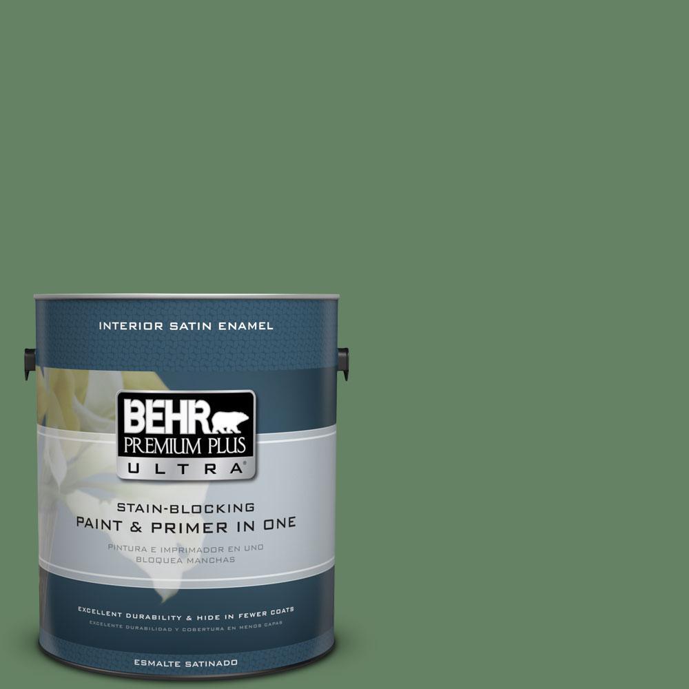 BEHR Premium Plus Ultra 1-gal. #S400-6 Tuscan Herbs Satin Enamel Interior Paint