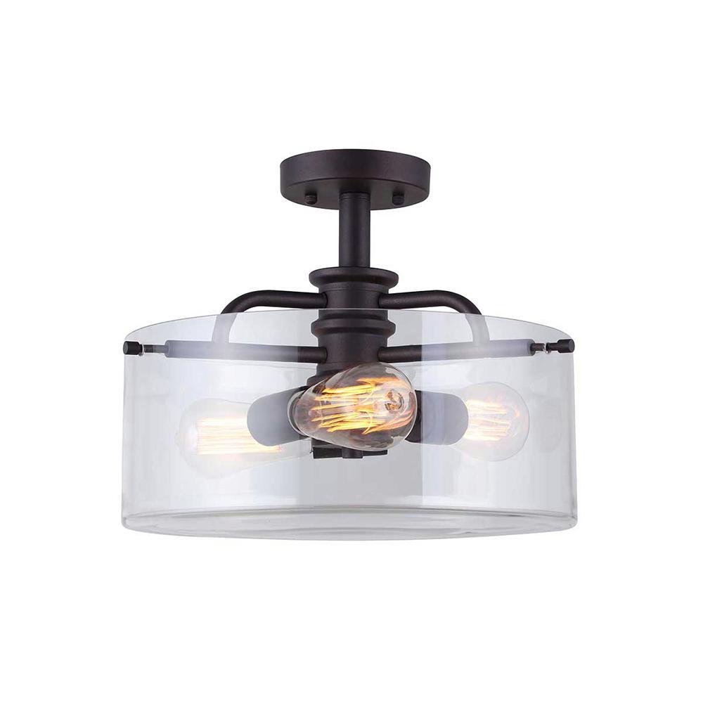 Angelo 3-Light Oil Rubbed Bronze Semi-Flushmount Light