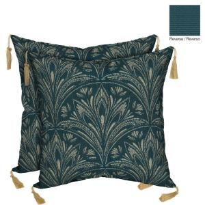 Bombay Outdoors Royal Zanzibar Reversible Square Toss Outdoor Cushion Pillow with Tassels (2-Pack) by Bombay Outdoors
