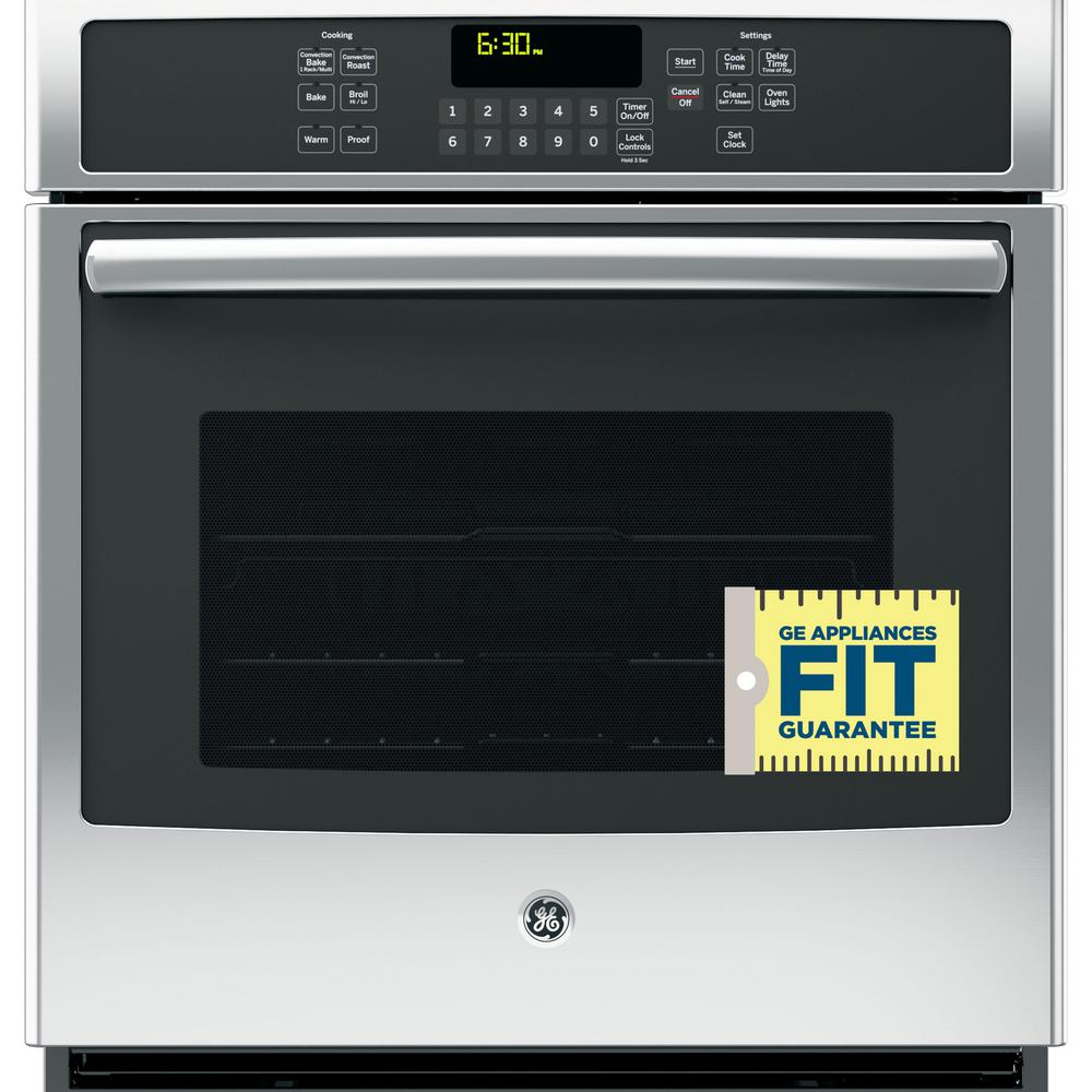 Ge 27 In Single Electric Wall Oven With Convection Self Cleaning Steam