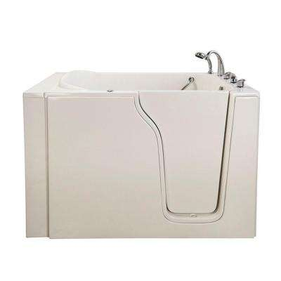 Bariatric 4.58 ft. x 35 in. Walk-In Air and Hydrotherapy Massage Right Drain Bathtub in White