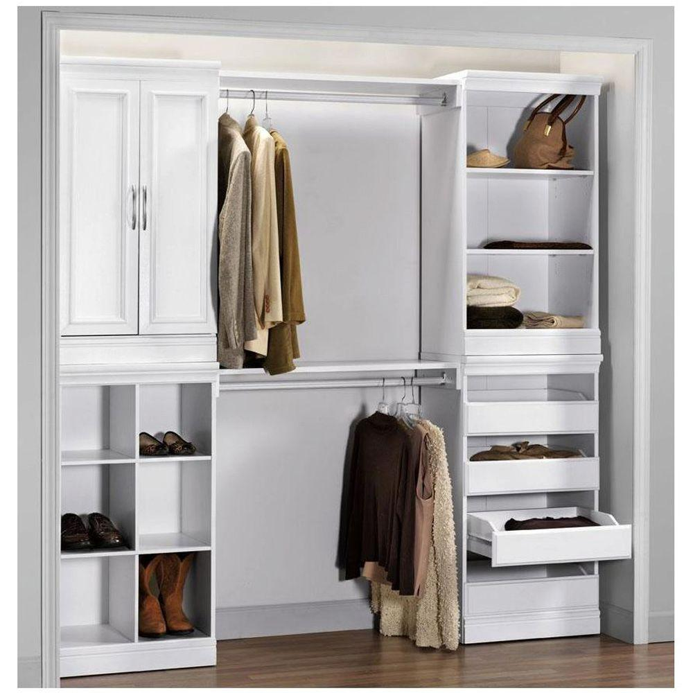 Home Decorators Collection Manhattan 2 Door Wood Modular Storage Cabinet In  White 0380210410   The Home Depot