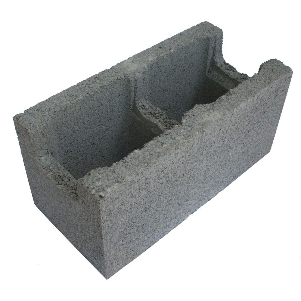 8 In. X 8 In. X 16 In. Gray Concrete Block-100012157