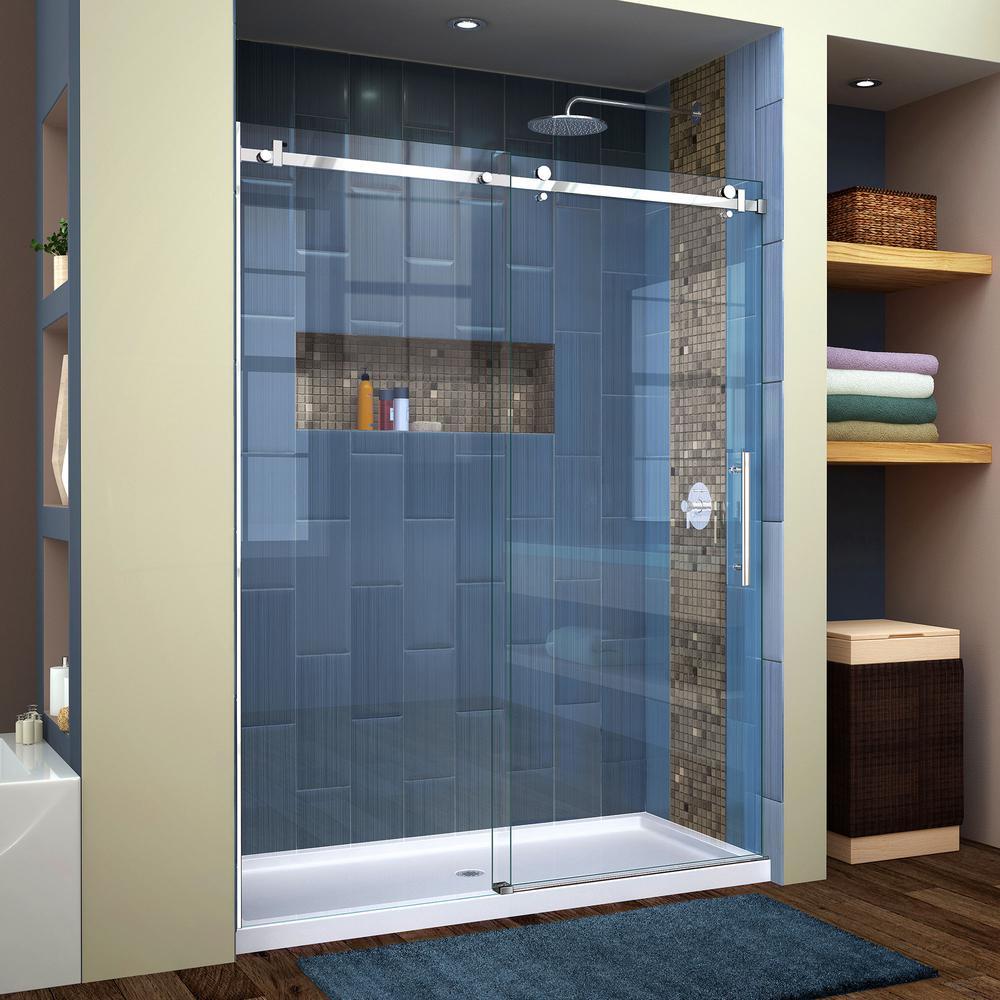 Frameless shower doors showers the home depot frameless sliding shower planetlyrics Image collections