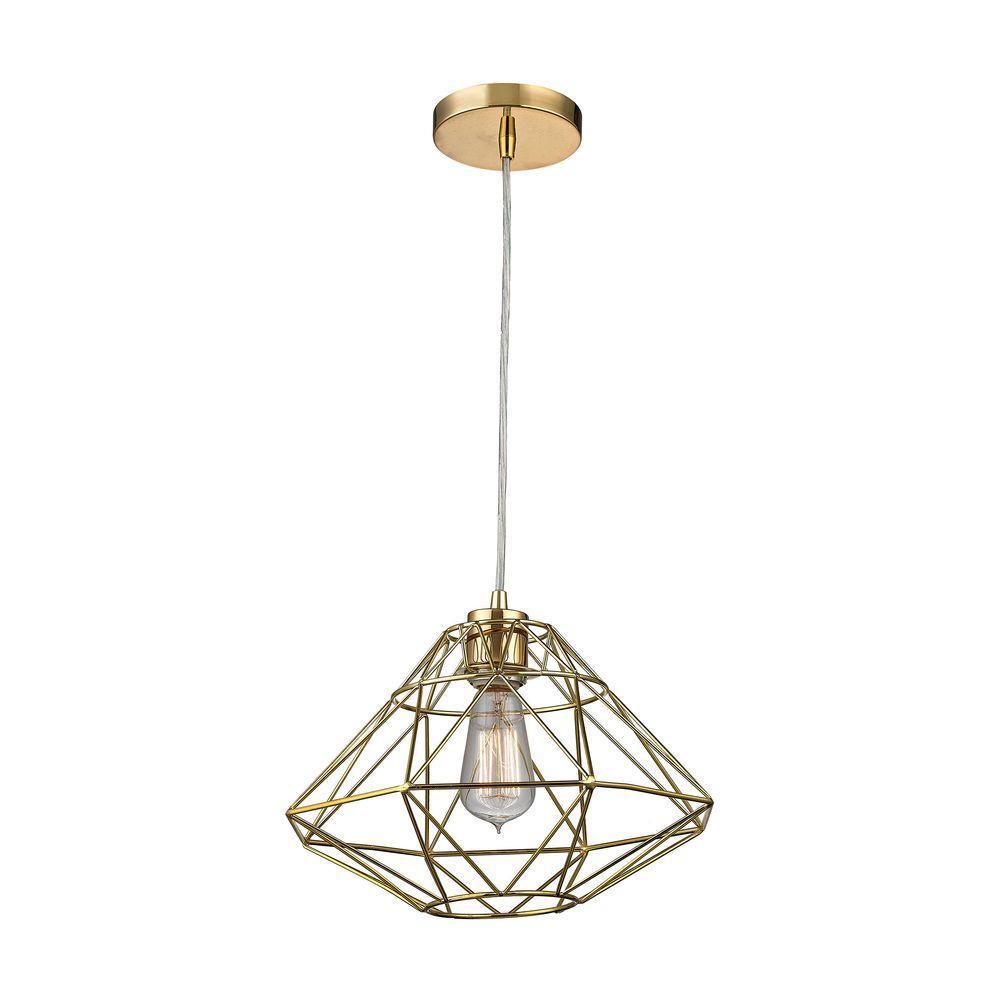 Titan Lighting Paradigm 1-Light Gold Pendant