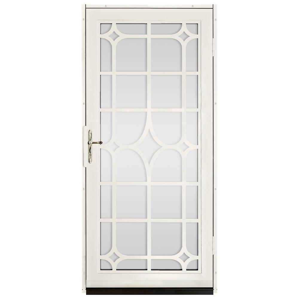 unique home designs 36 in x 80 in lexington almond surface mount steel security door with. Black Bedroom Furniture Sets. Home Design Ideas