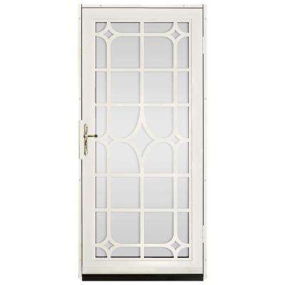 Lexington Outswing Security Door with Shatter-Resistant Glass Inserts and Satin Nickel Hardware