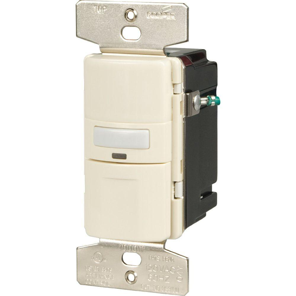 3 Way Occupancy Sensor Switch, Light Almond