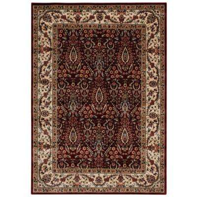 Persian Arts Burgundy 5 ft. 3 in. x 7 ft. 5 in. Area Rug