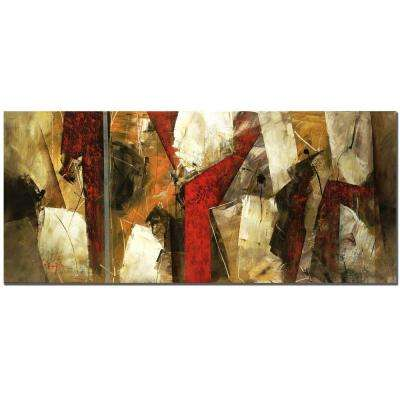 14 in. x 32 in. Abstract IX Canvas Art