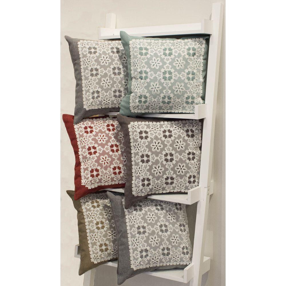 Creative Home Ideas Cecilia Burgundy Standard Pillow Cover (Set of 2)