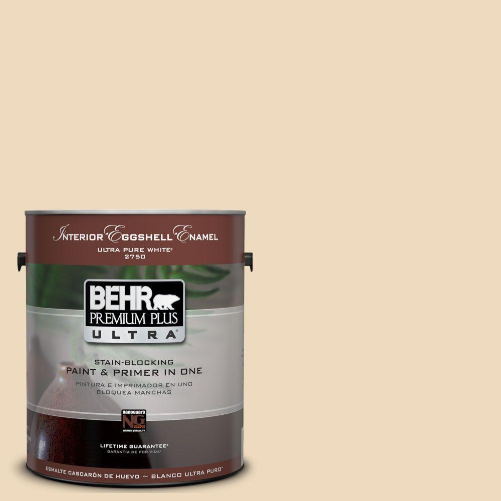 BEHR Premium Plus Ultra 1-Gal. #UL150-7 Light Incense Interior Eggshell Enamel Paint