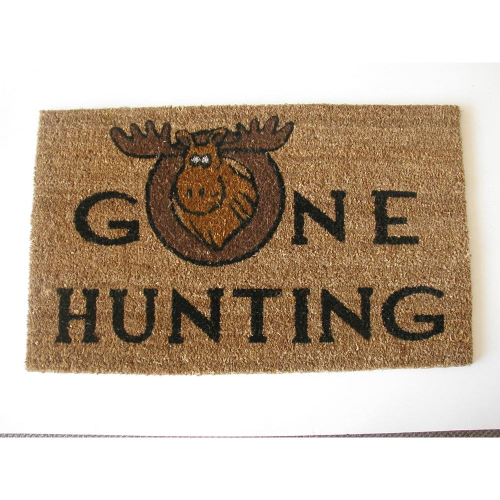 Nature Mats by Geo Gone Hunting 18 in  x 30 in  Coir and Polypropylene Door  Mat