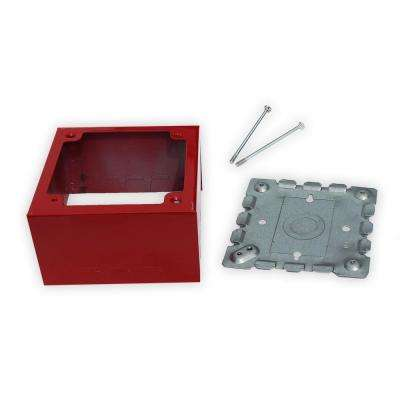 2-Gang Deep Alarm Box - Red