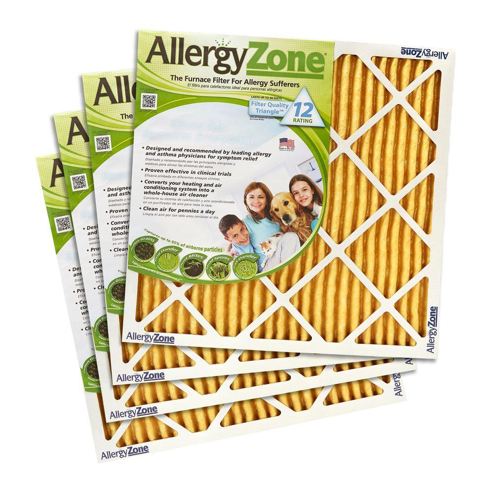 AllergyZone 16 in. x 25 in. x 1 in. FPR 10 Air Filter for Allergy Sufferers (4-Pack)
