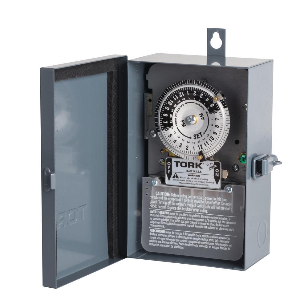 TORK 40 Amp 24-Hour Indoor/Outdoor Mechanical Timer Switch