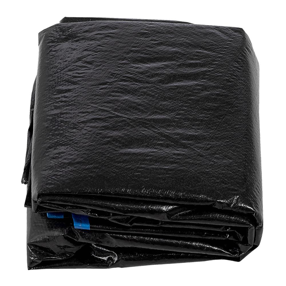 10 ft. Black Trampoline Protection Cover Weather and Rain Cover Fits