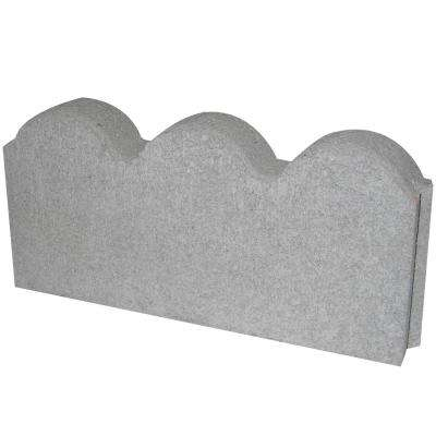 12 in. x 2 in. x 5.25 in. Straight Scallop Pewter Concrete Edger (224-Pieces/224 sq. ft./Pallet)