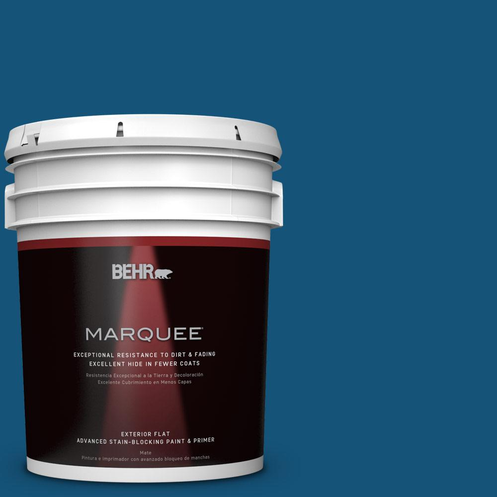 BEHR MARQUEE 5-gal. #S-H-560 Royal Breeze Flat Exterior Paint