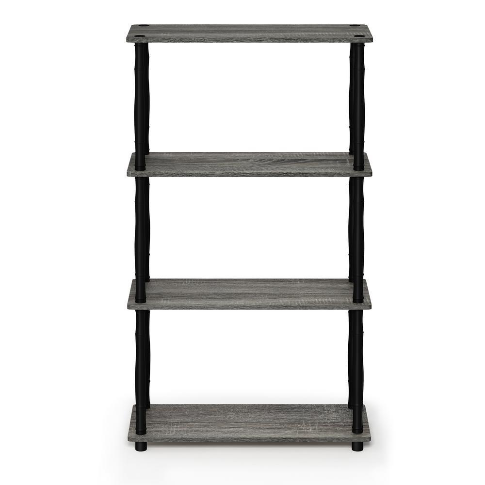 Turn N Tube French Oak GreyBlack 4 Shelf Multipurpose Display