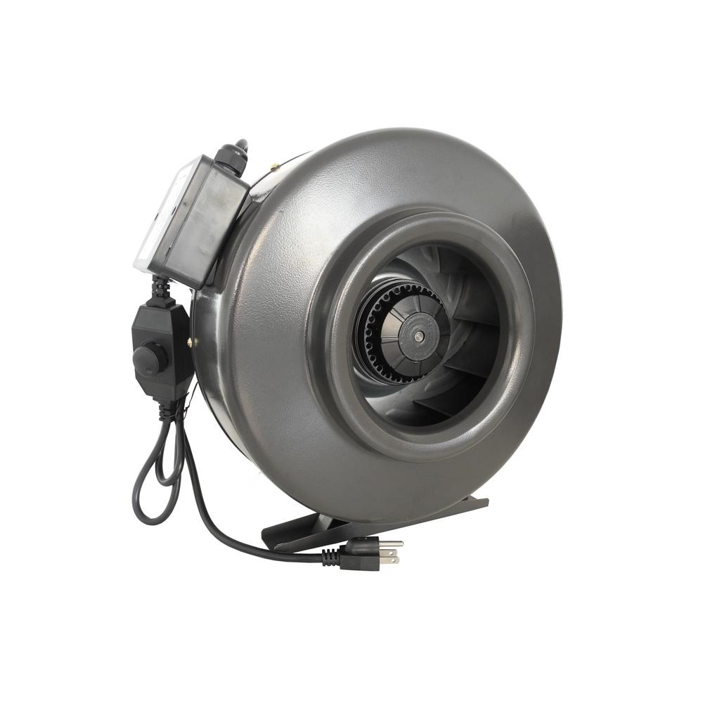 Duct Booster Fan Home Depot : Hydro crunch cfm in centrifugal inline duct fan