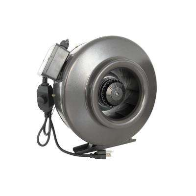 410 CFM 6 in. Centrifugal Inline Duct Fan with Variable Speed Controller for Indoor Garden Ventilation