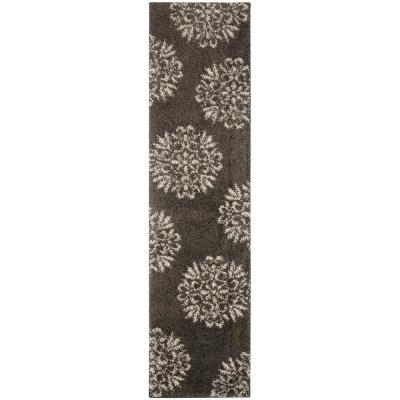 Exploded Medallions Grey 2 ft. x 7 ft. 10 in. Indoor Runner Rug