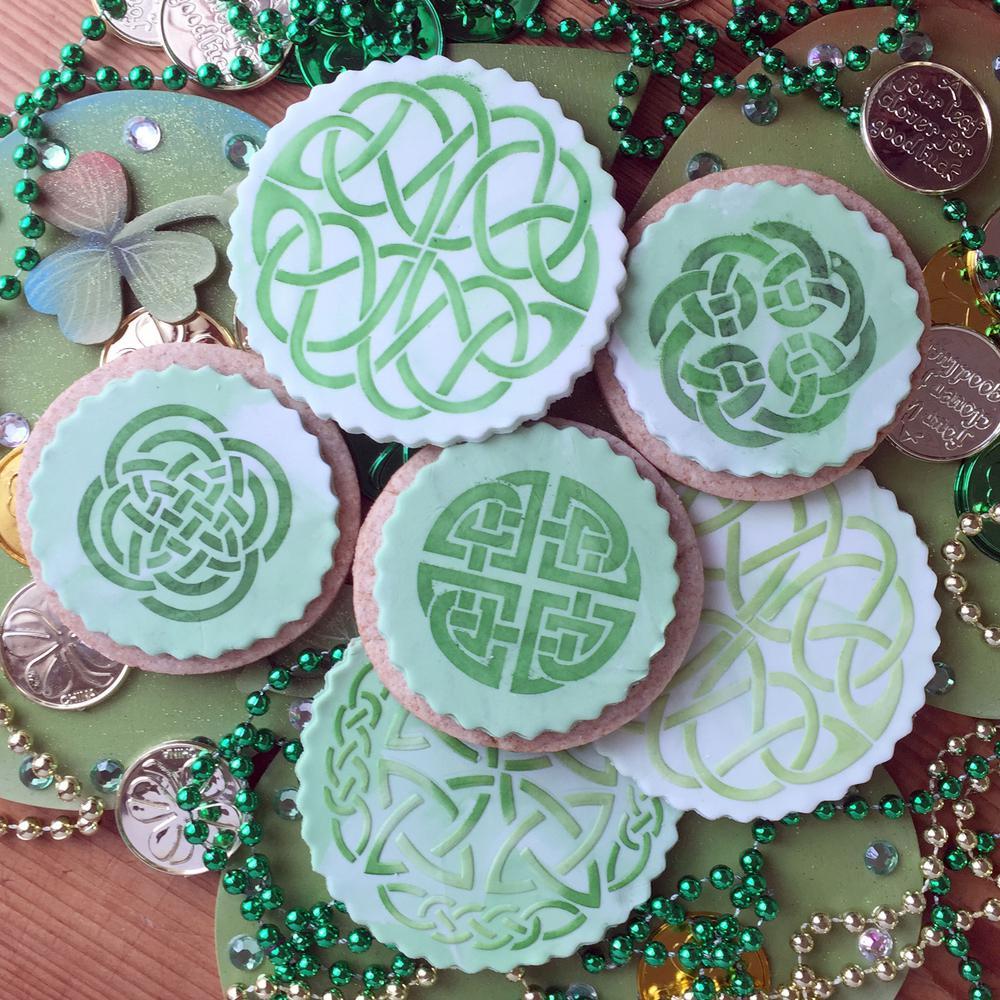 Celtic Medallion and Cookie Stencil Bundle (5-Patterns)