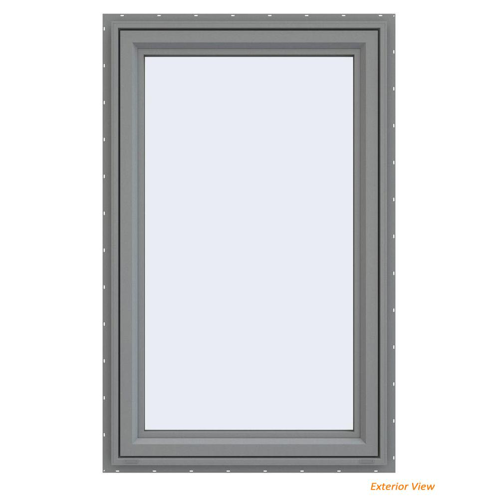 23.5 in. x 35.5 in. V-4500 Series Gray Painted Vinyl Left-Handed
