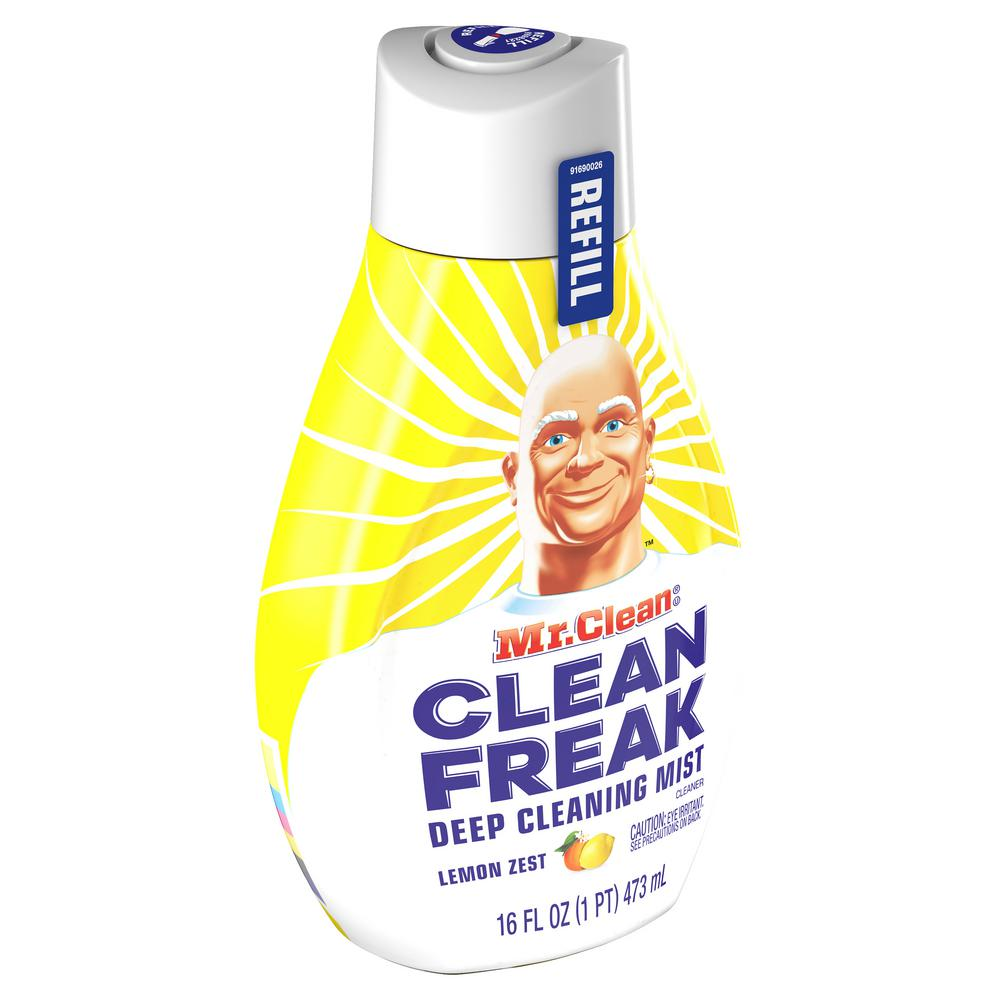 Mr Clean Clean Freak 16 Oz Lemon Zest Scent Deep Cleaning Mist Multi Surface Spray Refill 003700079130 The Home Depot