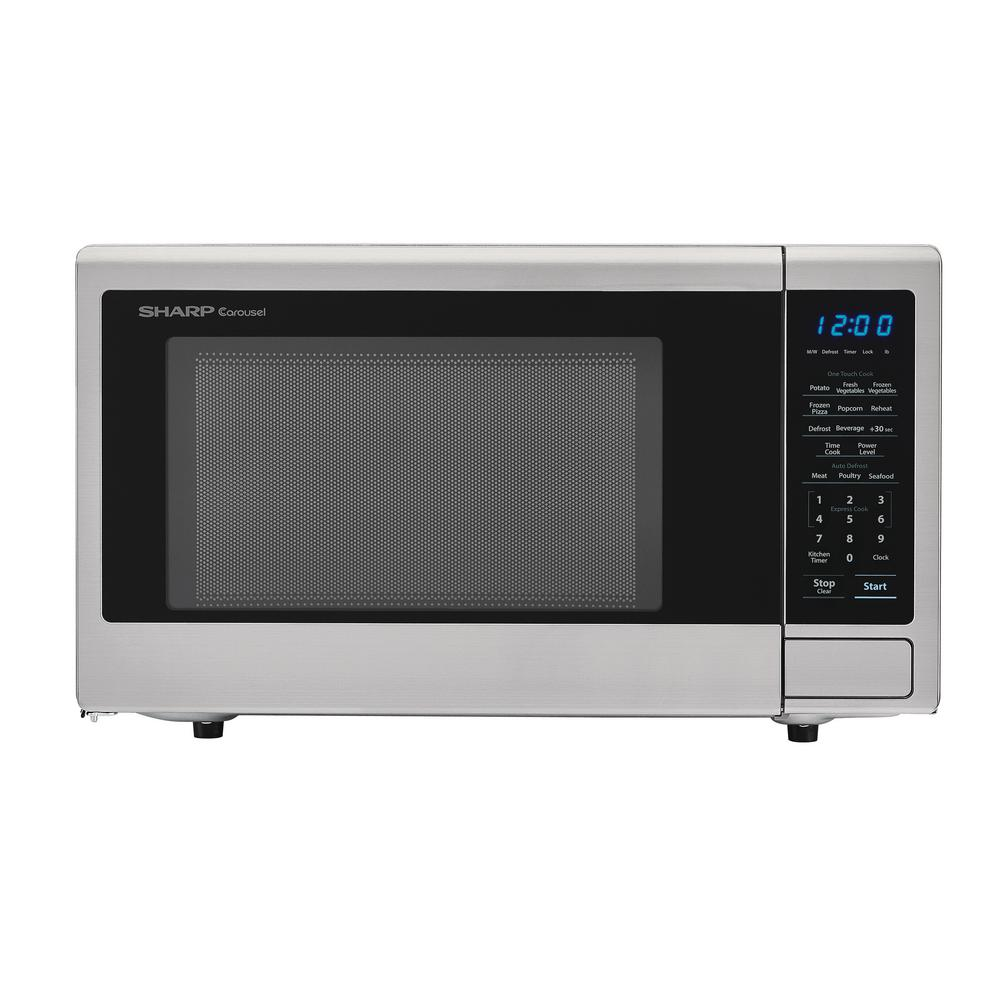 Sharp 1.1 cu. ft. Countertop Microwave in Stainless Steel with Sensor Cooking