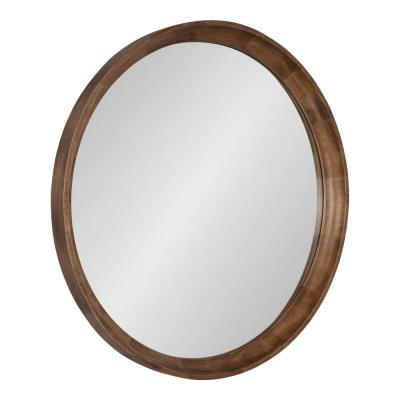Medium Round Natural Classic Mirror (30 in. H x 30 in. W)