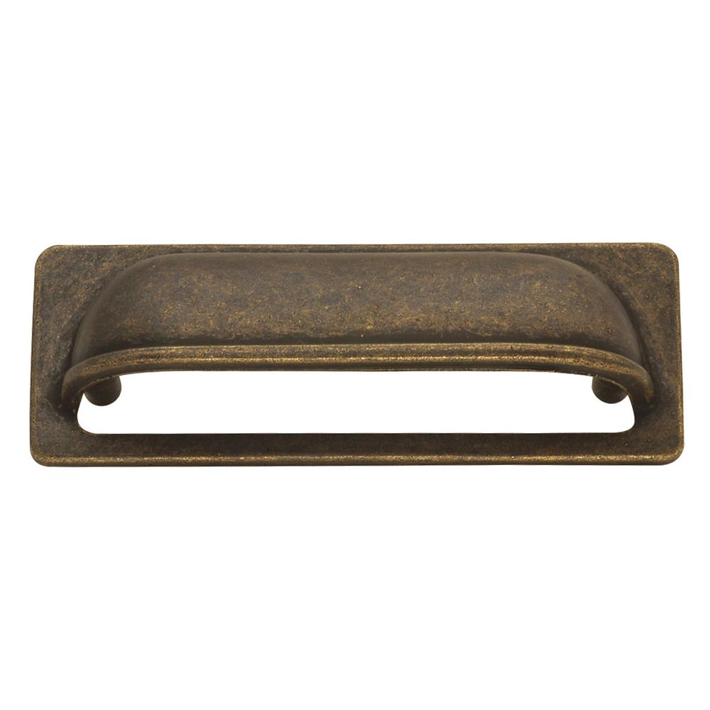 Hickory Hardware Oxford Antique 3 in. Windover Antique Cup Pull ...