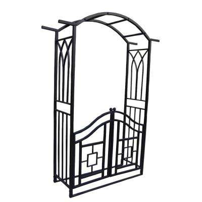 Royal 84.5 in. x 59.5 in. Metal Arbor with Gate